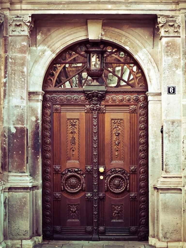 fancy door waitting for a knock