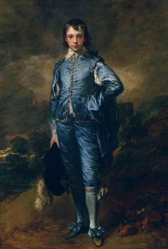 The Blue Boy, a young boy dressed in a blue outfit