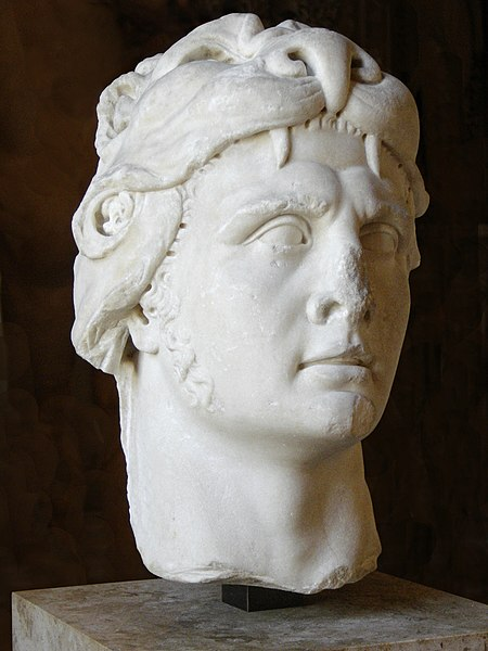 Portrait of the king of Pontus Mithridates VI as Heracles. Marble, Roman imperial period (1st century).